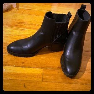 Brand new Zara black leather ankle boots